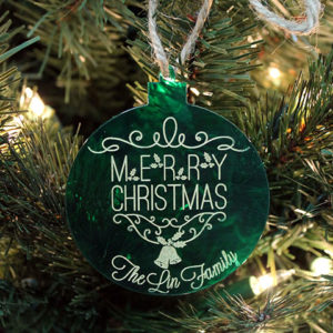 Personalized Christmas Ornaments | Lin Family