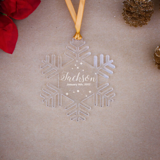 Snowflake Acrylic Christmas Ornaments   Jackson