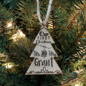 Personalized Christmas Ornaments | Mr Mrs Grant