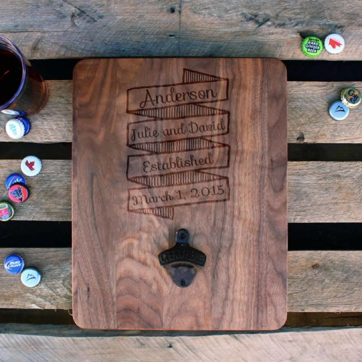 Custom Wood Bottle Opener Board | Anderson