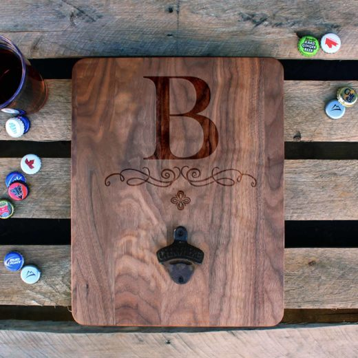 Custom Wood Bottle Opener Board | B