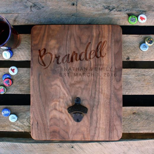 Custom Wood Bottle Opener Board | Brandell