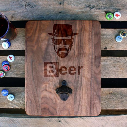 Custom Wood Bottle Opener Board | Breaking Beer