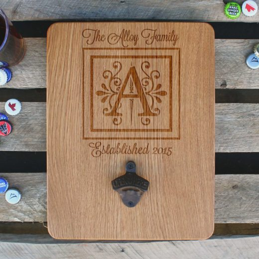 Custom Wood Bottle Opener Board | Alloy