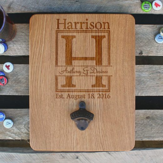 Custom Wood Bottle Opener Board | Anthony Desiree