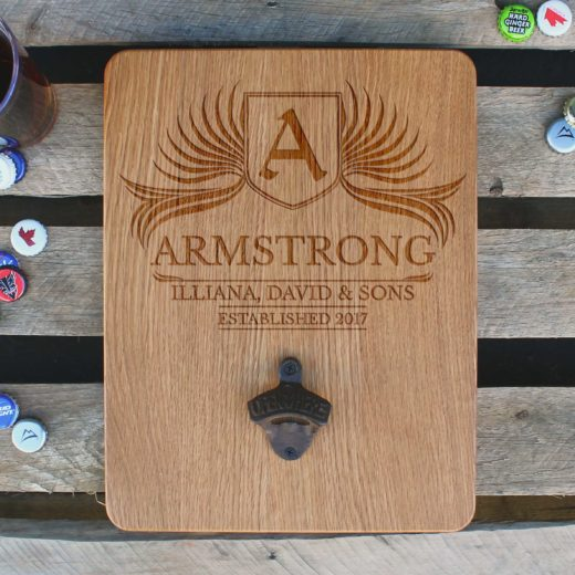 Custom Wood Bottle Opener Board | Armstrong