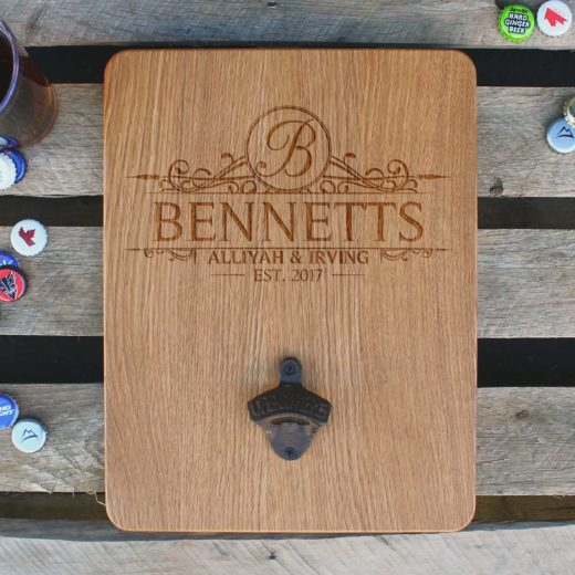 Custom Wood Bottle Opener Board | Bennetts