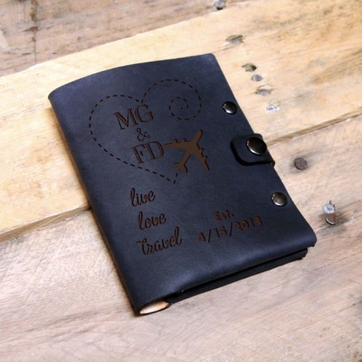 Personalized Leather Passport Wallet | MGFD