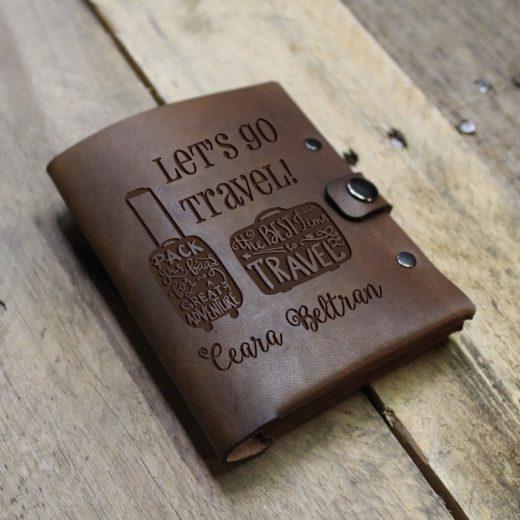 Personalized Leather Passport Wallet   Ceara Beltran