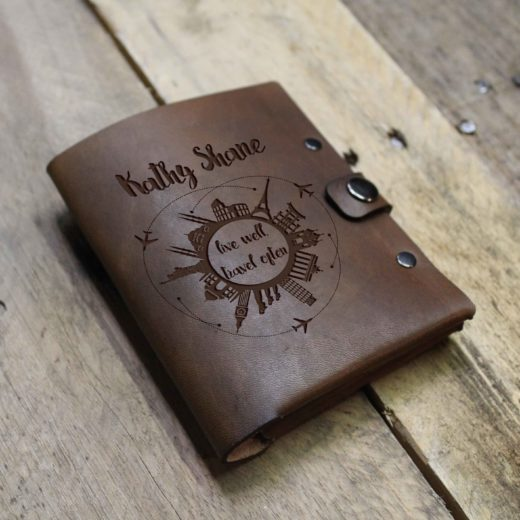 Personalized Leather Passport Wallet | Kathy Shane