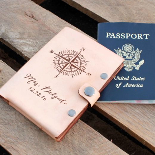 Personalized Leather Passport Wallet | Delgado