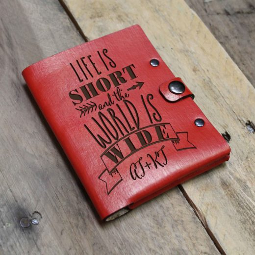 Personalized Leather Passport Wallet | AT+KT