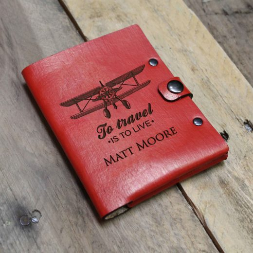 Personalized Leather Passport Wallet | Matt Moore