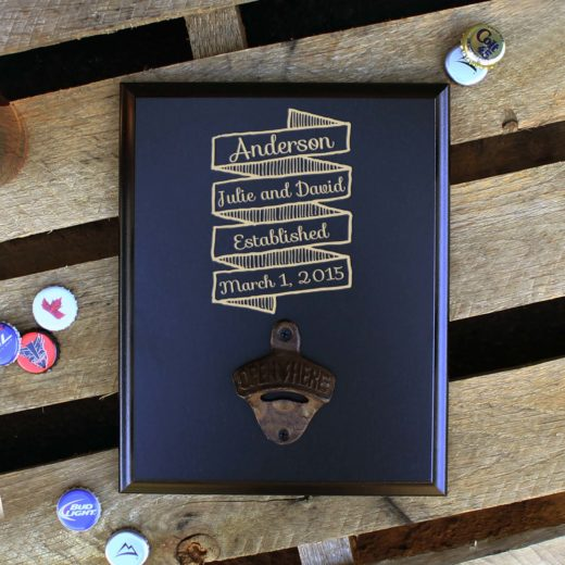 Custom Plaque Bottle Opener Board | Anderson
