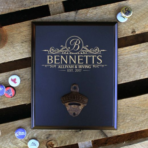 Custom Plaque Bottle Opener Board | Bennetts