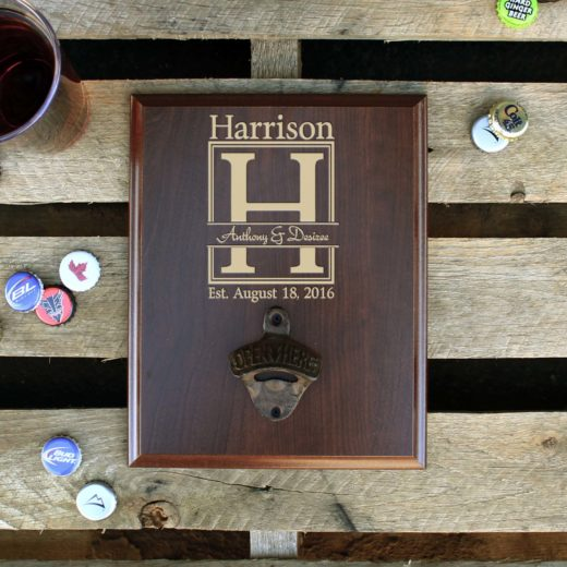 Custom Plaque Bottle Opener Board | Anthony Desiree Harrison
