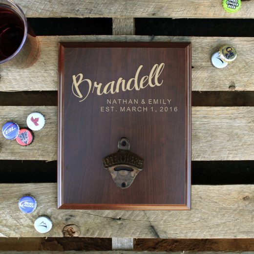 Custom Plaque Bottle Opener Board | Brandell