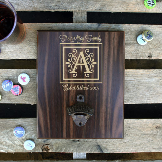 Custom Plaque Bottle Opener Board | Alloy