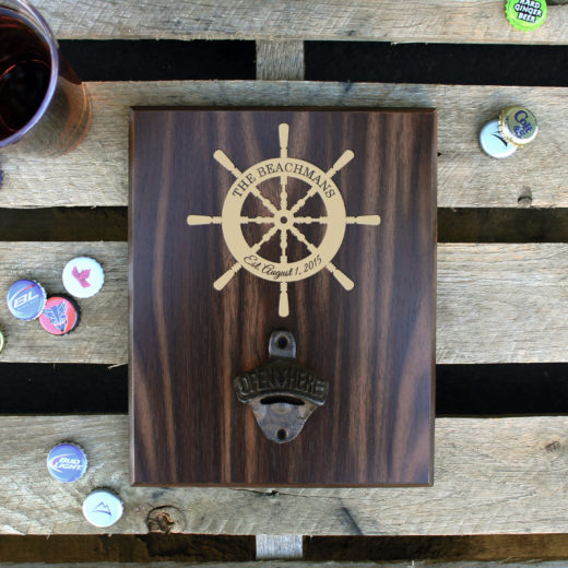 Custom Plaque Bottle Opener Board | Beachmans