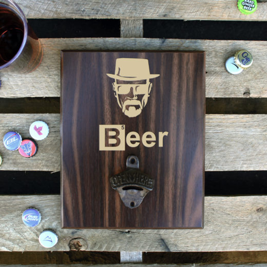 Custom Plaque Bottle Opener Board | Breaking Beer