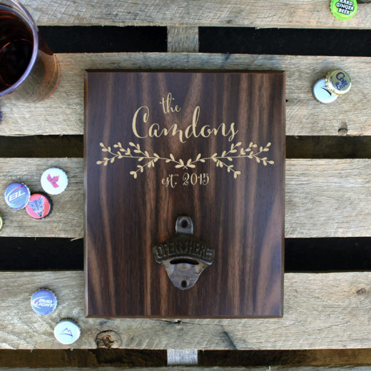 Custom Plaque Bottle Opener Board | Camdons