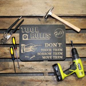 Tool Rules Garage Sign | Felix