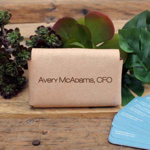 Genuine Leather Business Card Holder | Avery Mcadams