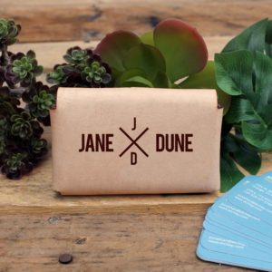Genuine Leather Business Card Holder | Jane Dune