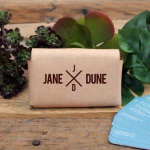 Genuine Leather Business Card Holder | Jane Dune