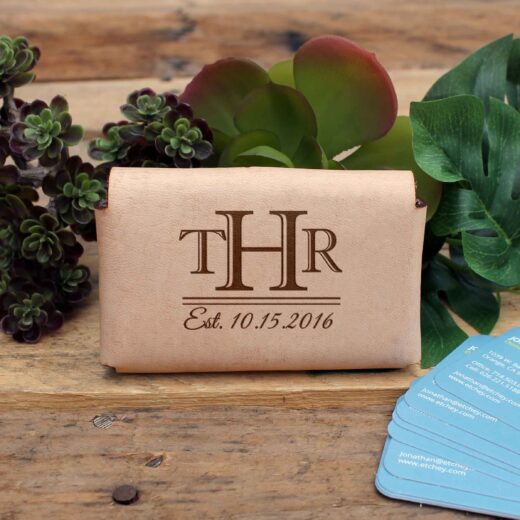 Genuine Leather Business Card Holder | THR