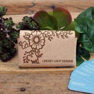 Genuine Leather Business Card Holder | Lauren Light Designs