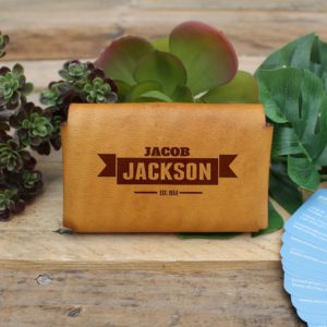 Genuine Leather Business Card Holder | Jackson