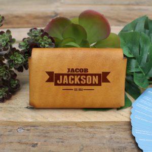 Genuine Leather Business Card Holder | Jackson