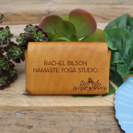 Genuine Leather Business Card Holder | Rachel Bison