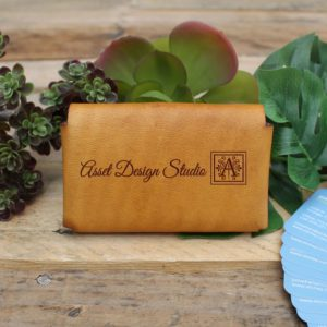 Genuine Leather Business Card Holder | Asset Design Studios