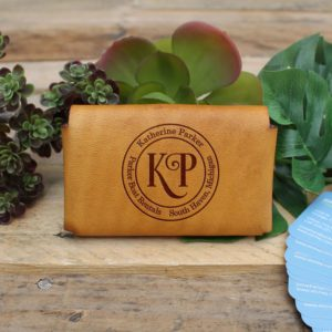Genuine Leather Business Card Holder | Katherine Parker