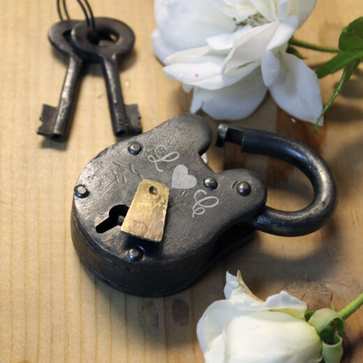 Antique Love Lock with Keys | L Heart C