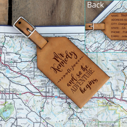 Personalized Leather Luggage Tag | Mr. Kennedy