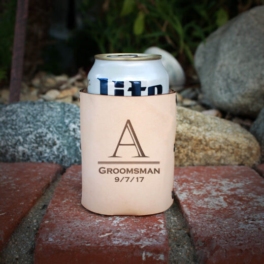 Genuine Leather Koozie | A Groom