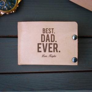 Genuine Leather Bi-fold Wallet | BestDadEver