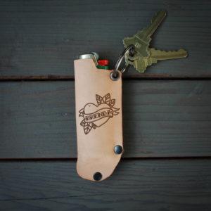 Genuine Leather Lighter Holder | Brenda