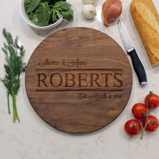 Personalized Round Cutting Board | Roberts