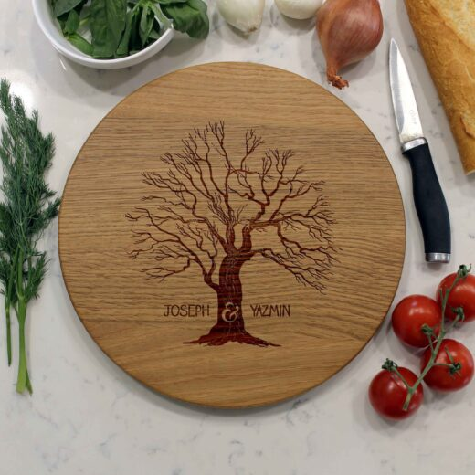 Personalized Round Cutting Board | Joseph Yazmin
