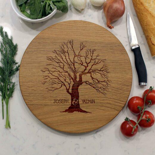 Personalized Round Cutting Board | Joseph Yazmin