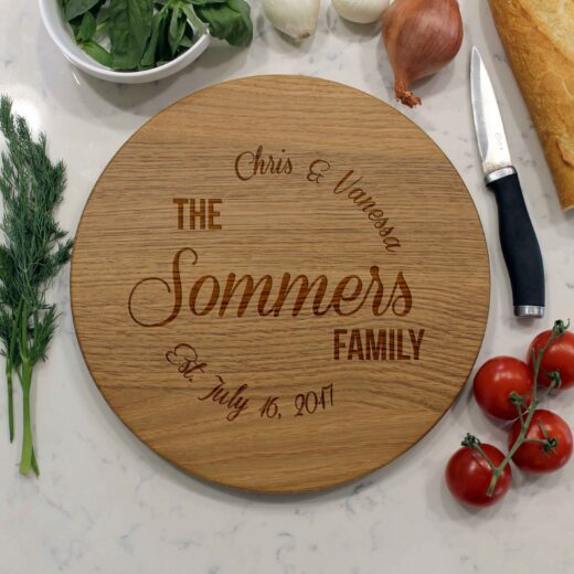 Personalized Round Cutting Board | Sommers