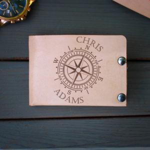 Genuine Leather Bi-fold Wallet | Chris Adams