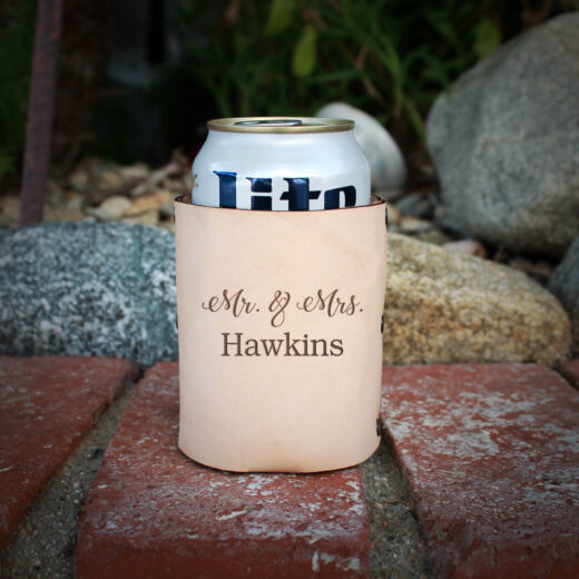 Genuine Leather Koozie | Hawkins