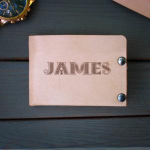 Genuine Leather Bi-fold Wallet | JAMES