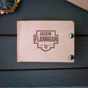 Genuine Leather Bi-fold Wallet | Jason Flannigan