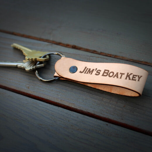 Genuine Leather Loop Keychain | Boat